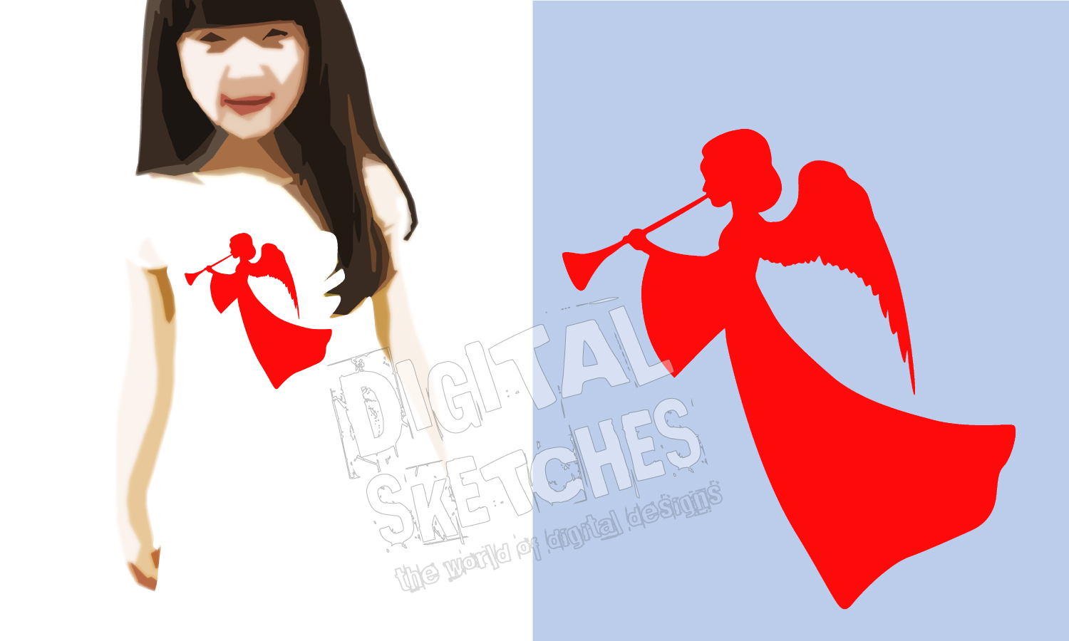 Angel Graphic, Angel Cut File, Holiday SVG example image 2