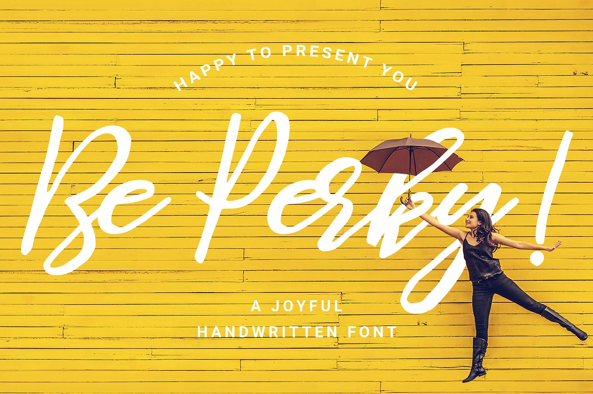 Be Perky! Handwritten Font example image 1