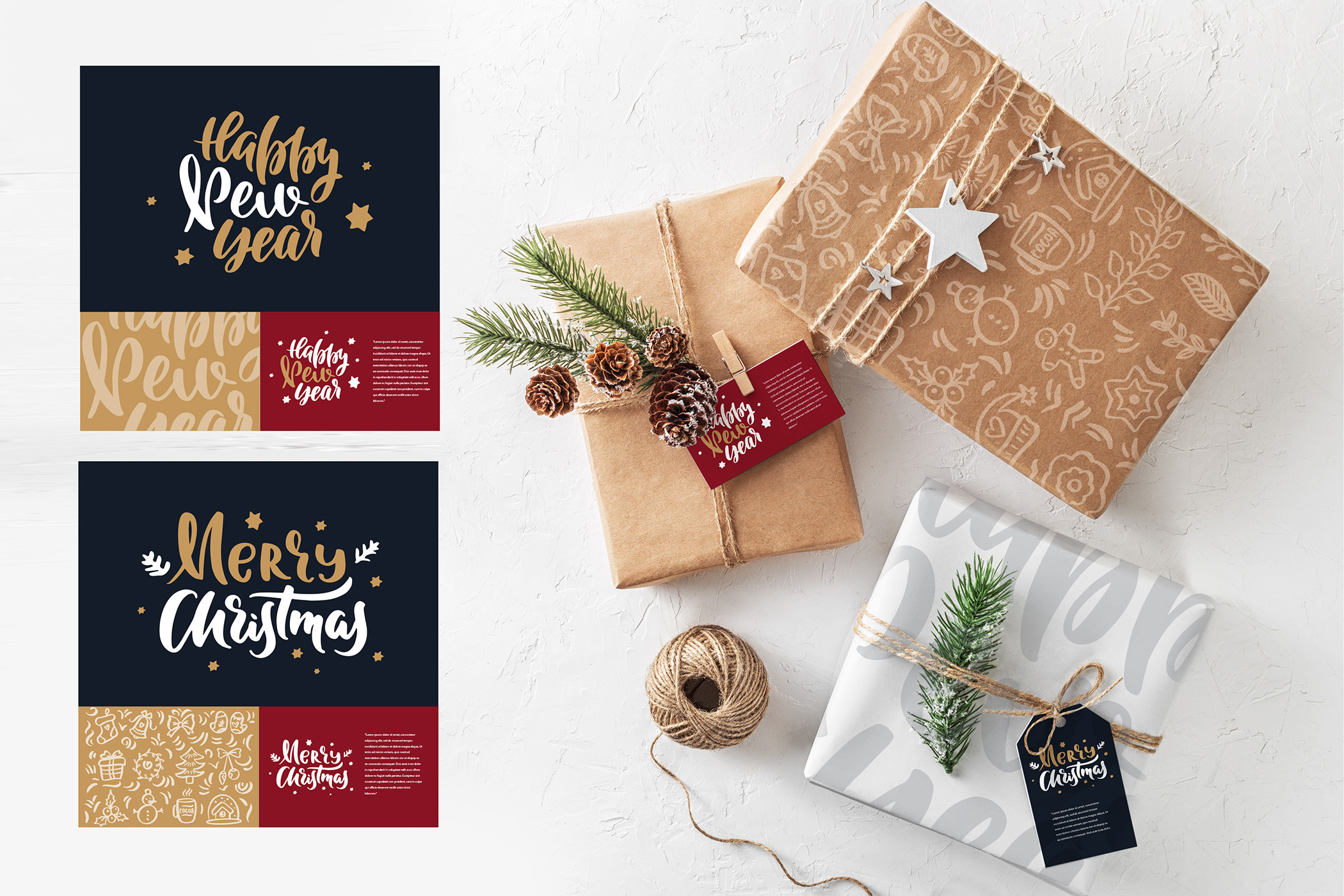 Christmas time lettering pack example image 8