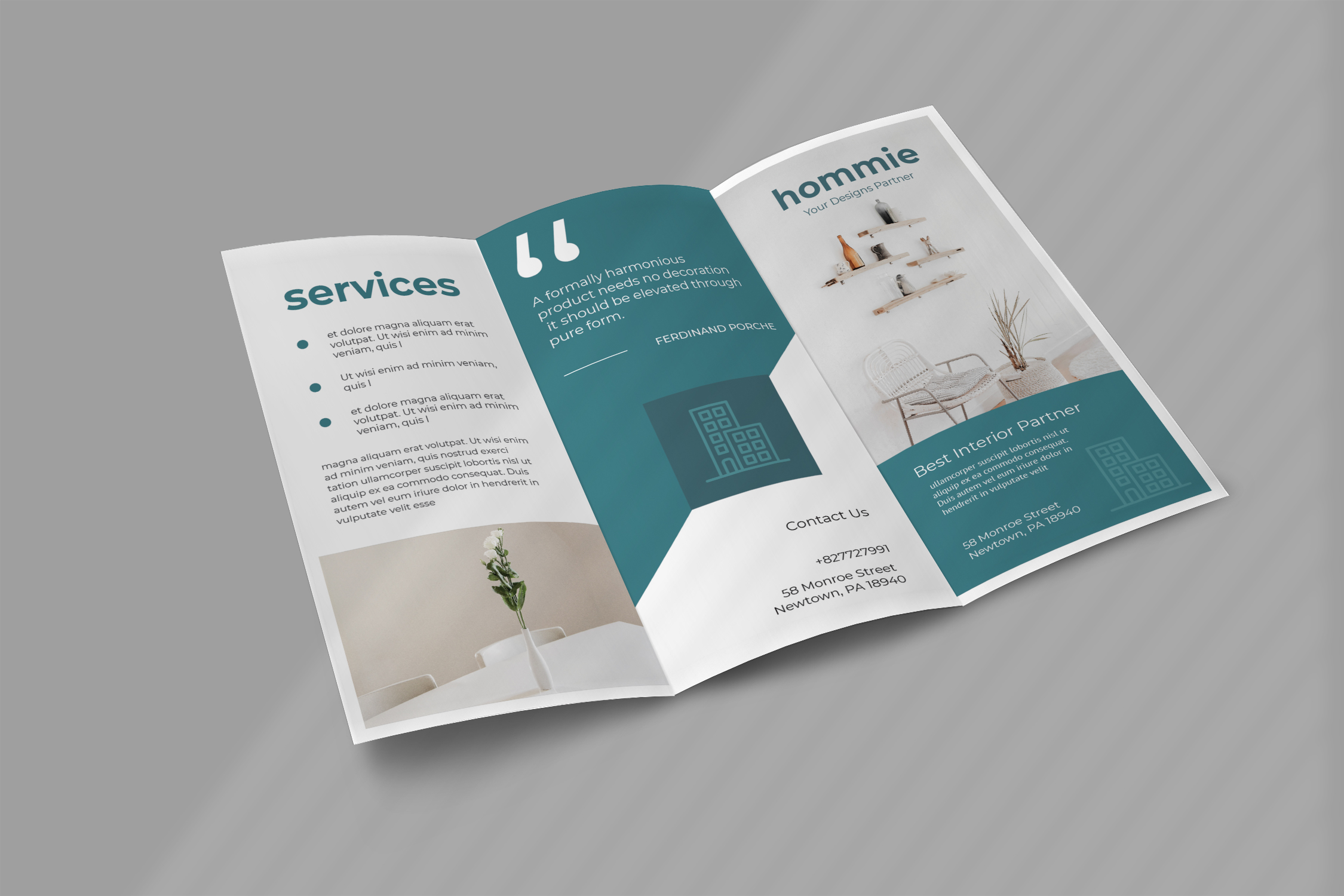 Interior Promotion Trifold Brochure example image 2