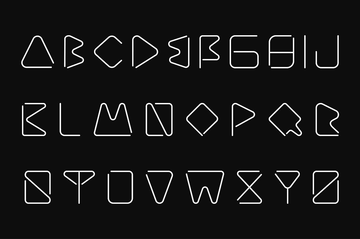Creative minimalistic font. B&W example image 5