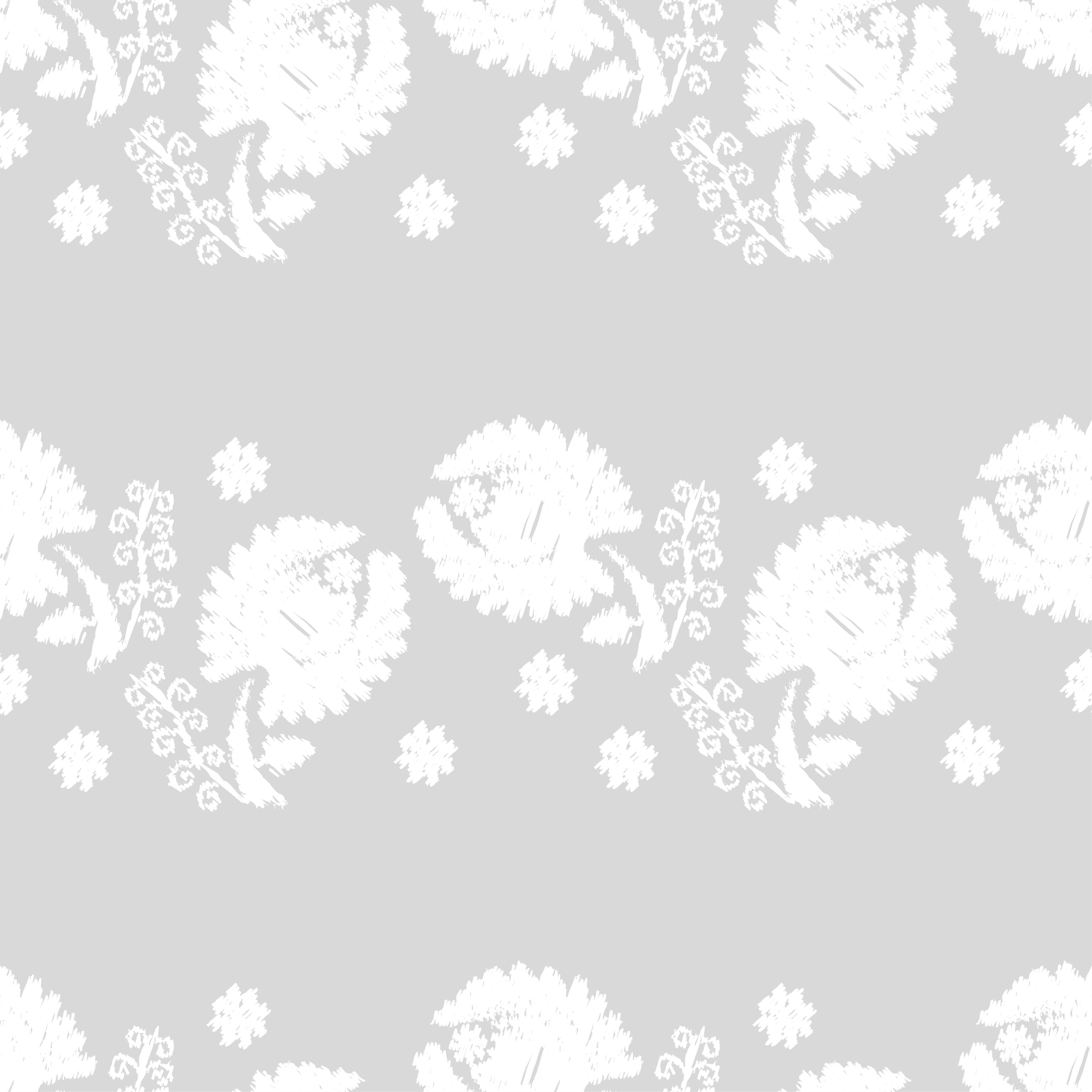 Set of 6 Seamless vector background. White flowers on a gray background. example image 4