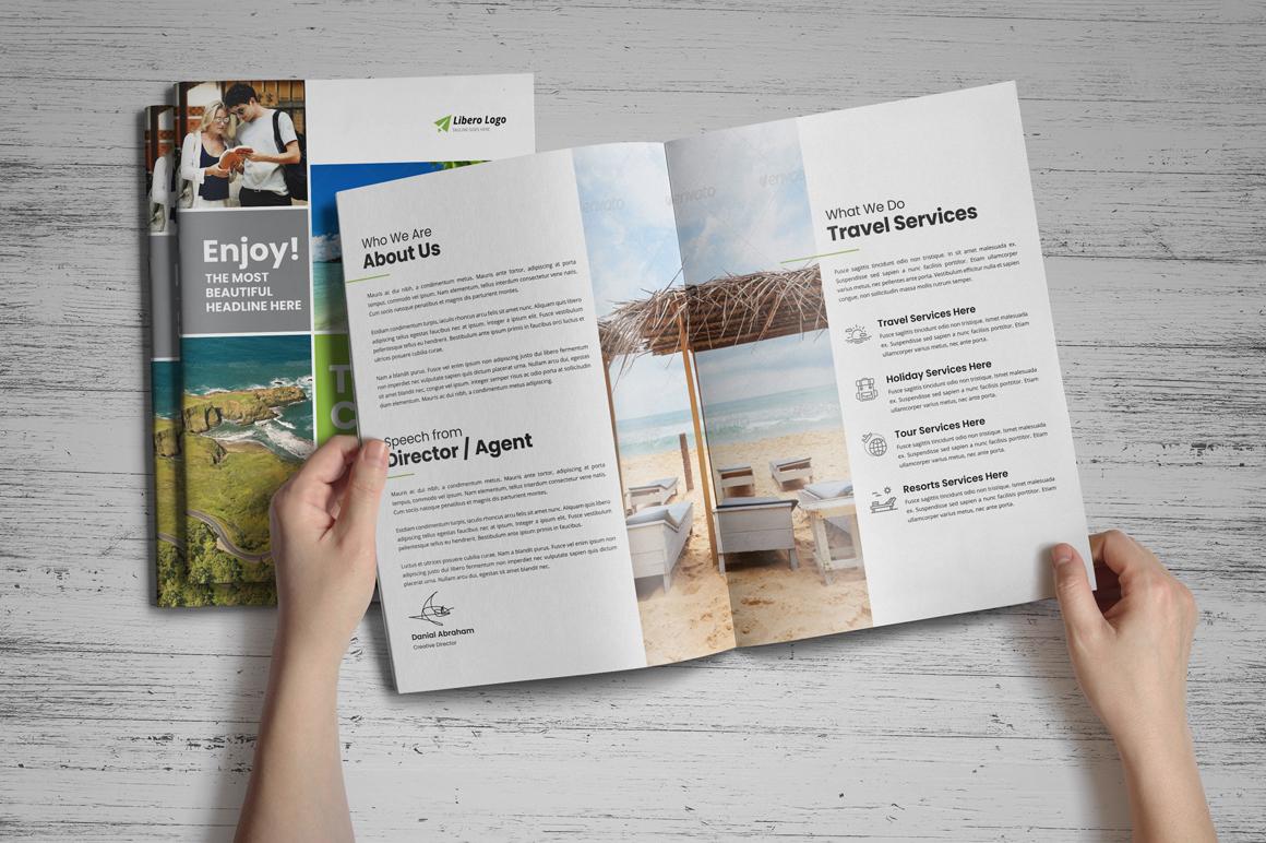 Holiday Travel Brochure Design v5 example image 8