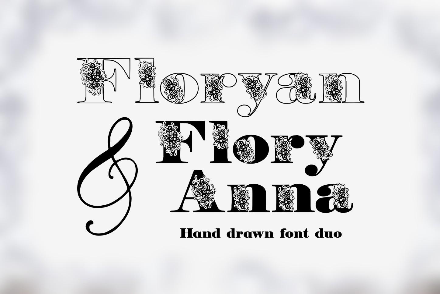 Floryan & FloryAnna Font Duo example image 5