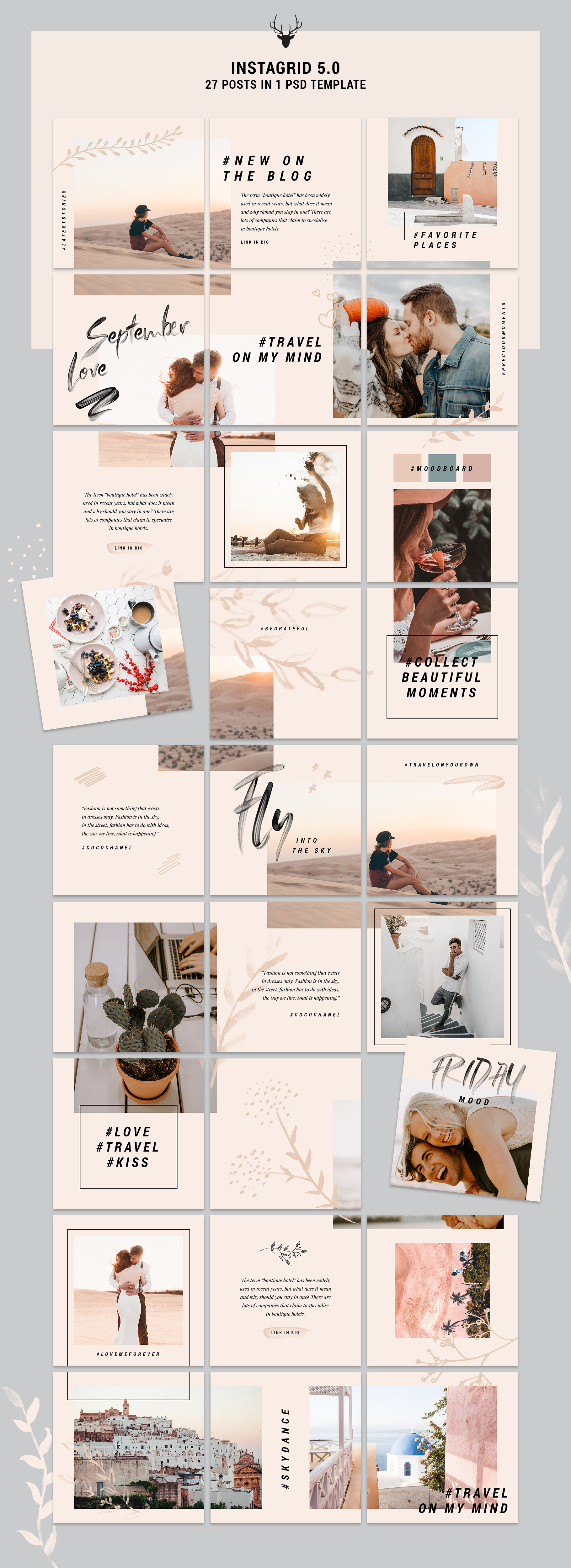 InstaGrid 5.0 - Creative & Modern Instagram Puzzle Template example image 12
