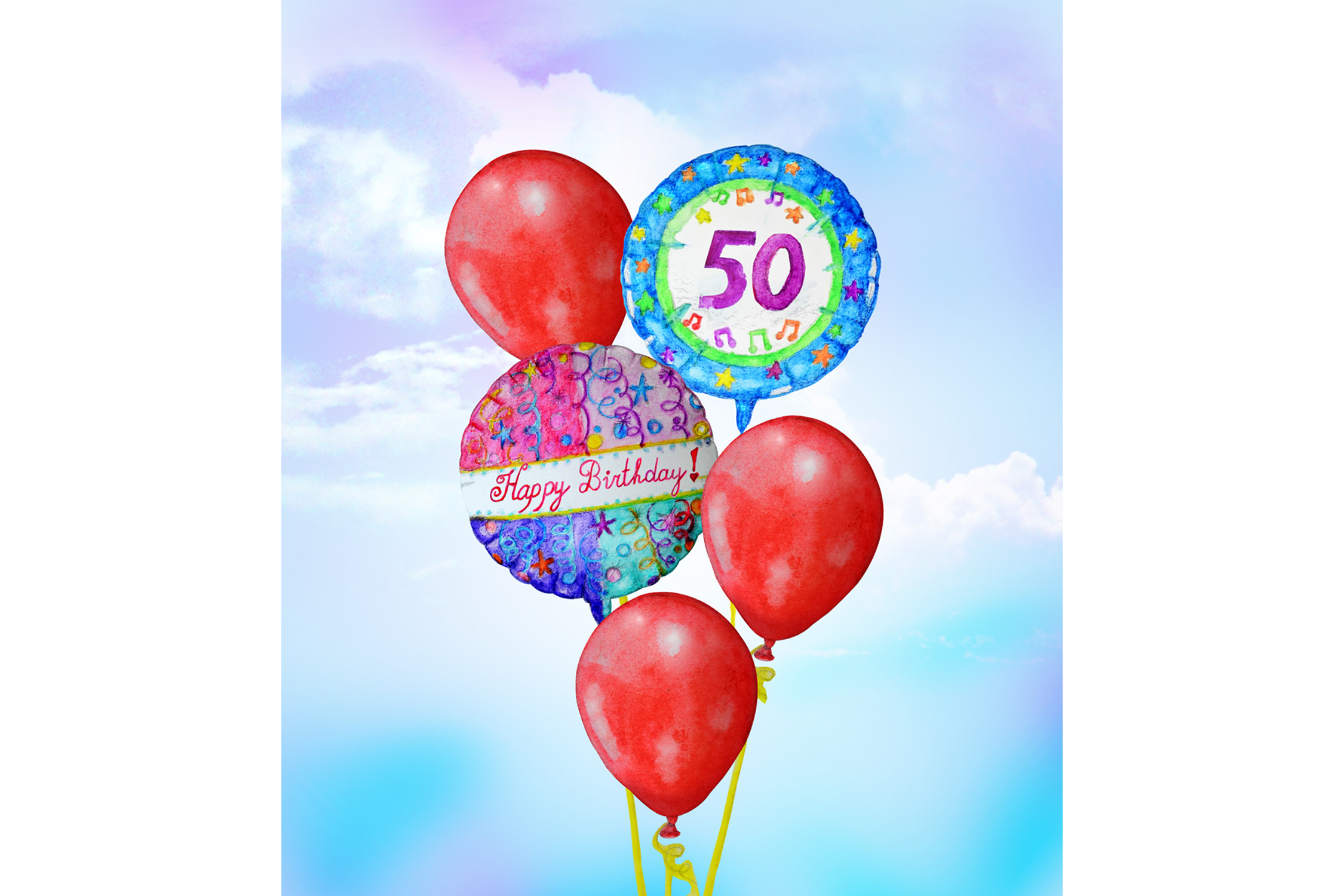 Hand Drawn Birthday Balloons example image 3