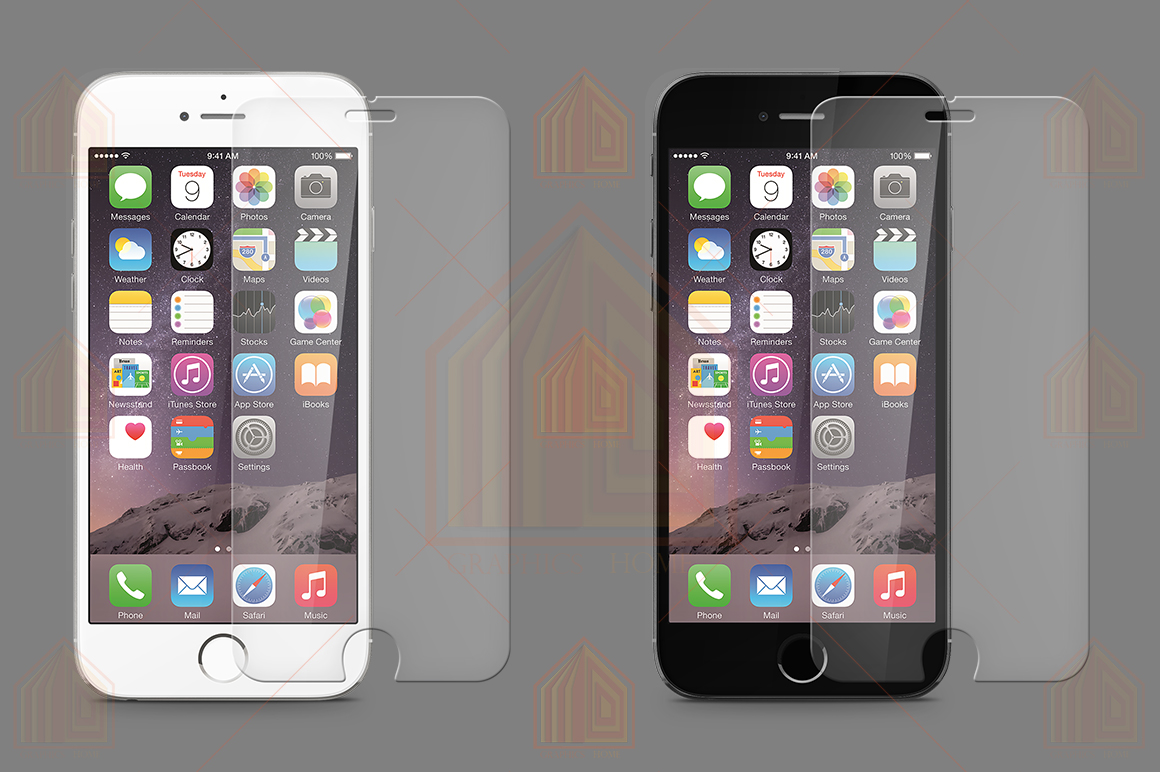 iPhone 6-6s Tempered Glass Template  example image 3