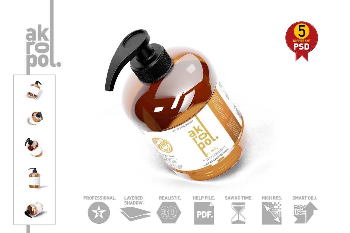 Amber Pump Bottle example image 2