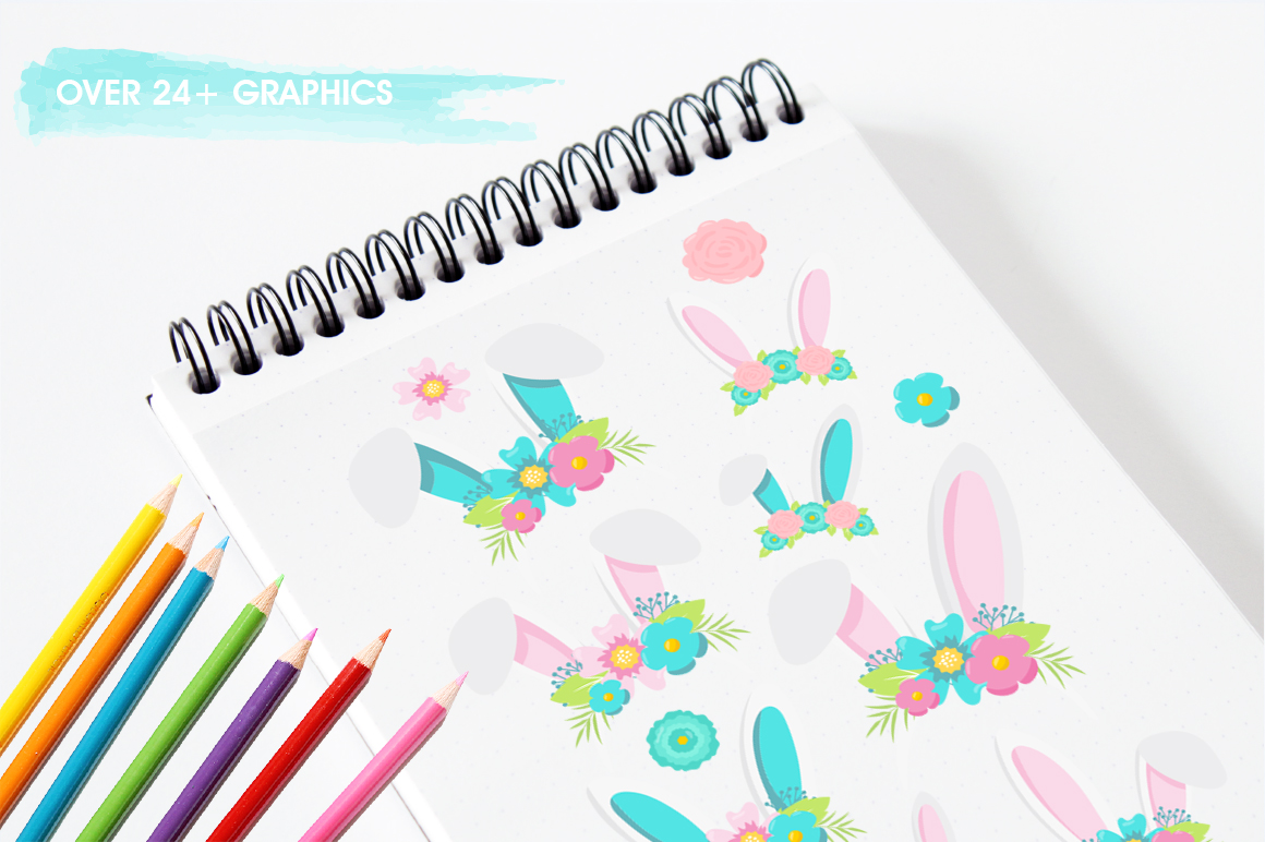 Happy Easter graphic and illustrations example image 3
