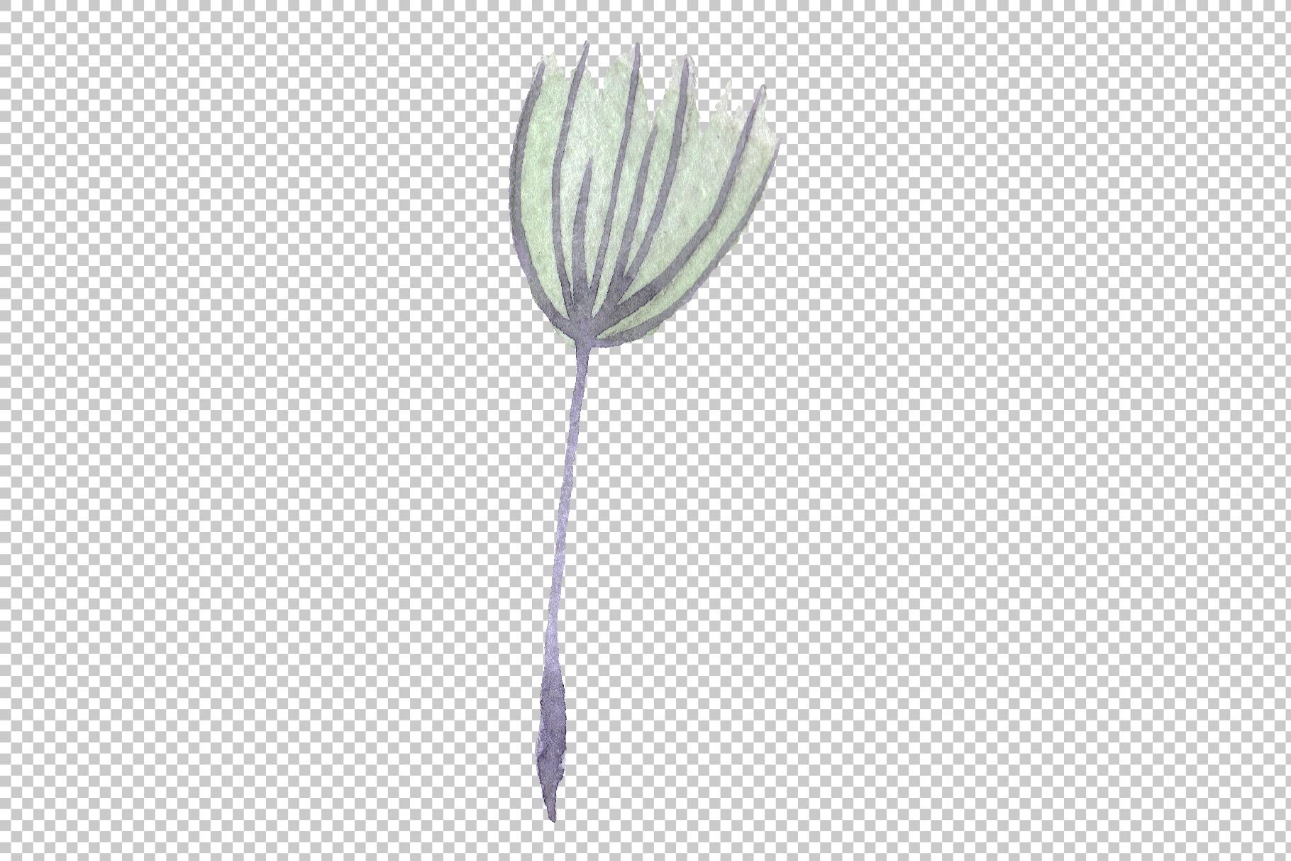 Dandelion summer greeting watercolor png example image 5
