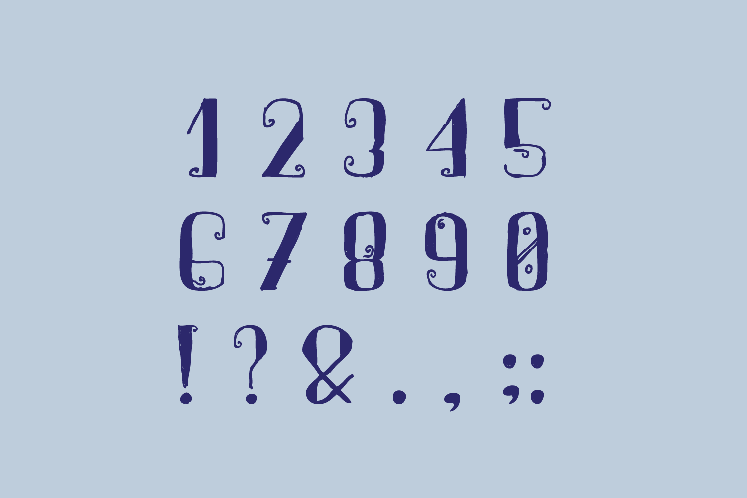 Arpeggio Curly Font example image 5