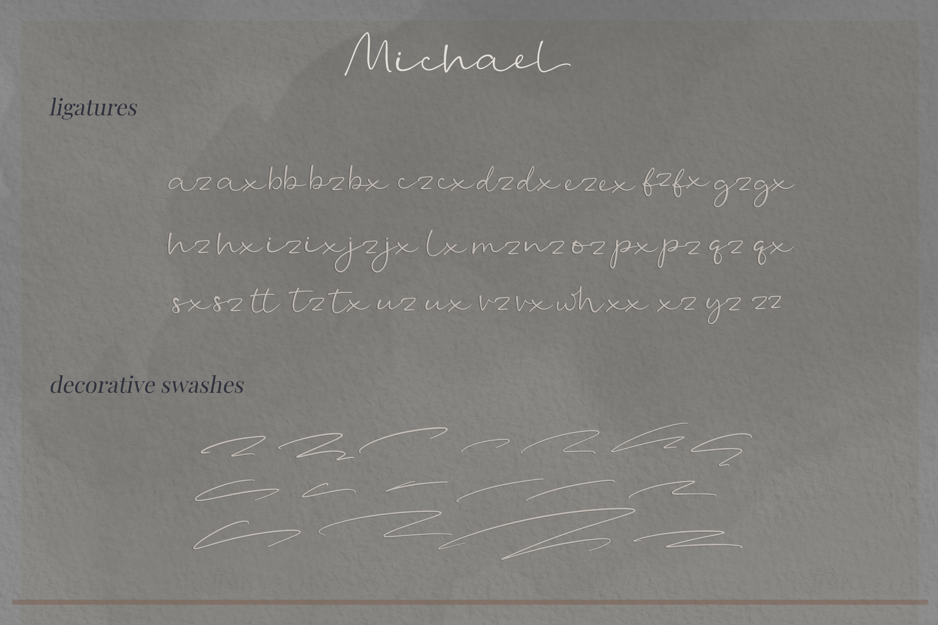 Michael - a casual handwritten script example image 14