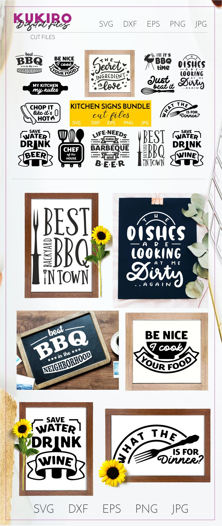 BIG HOME DECOR BUNDLE - Home, Office and funny Kitchen signs example image 28