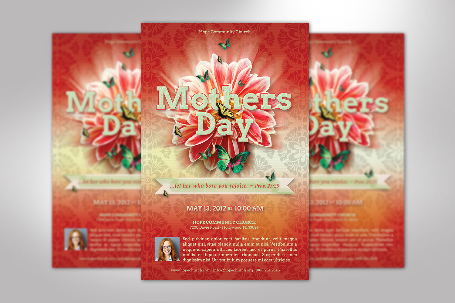 Mothers Day Flyer Photoshop Template example image 3