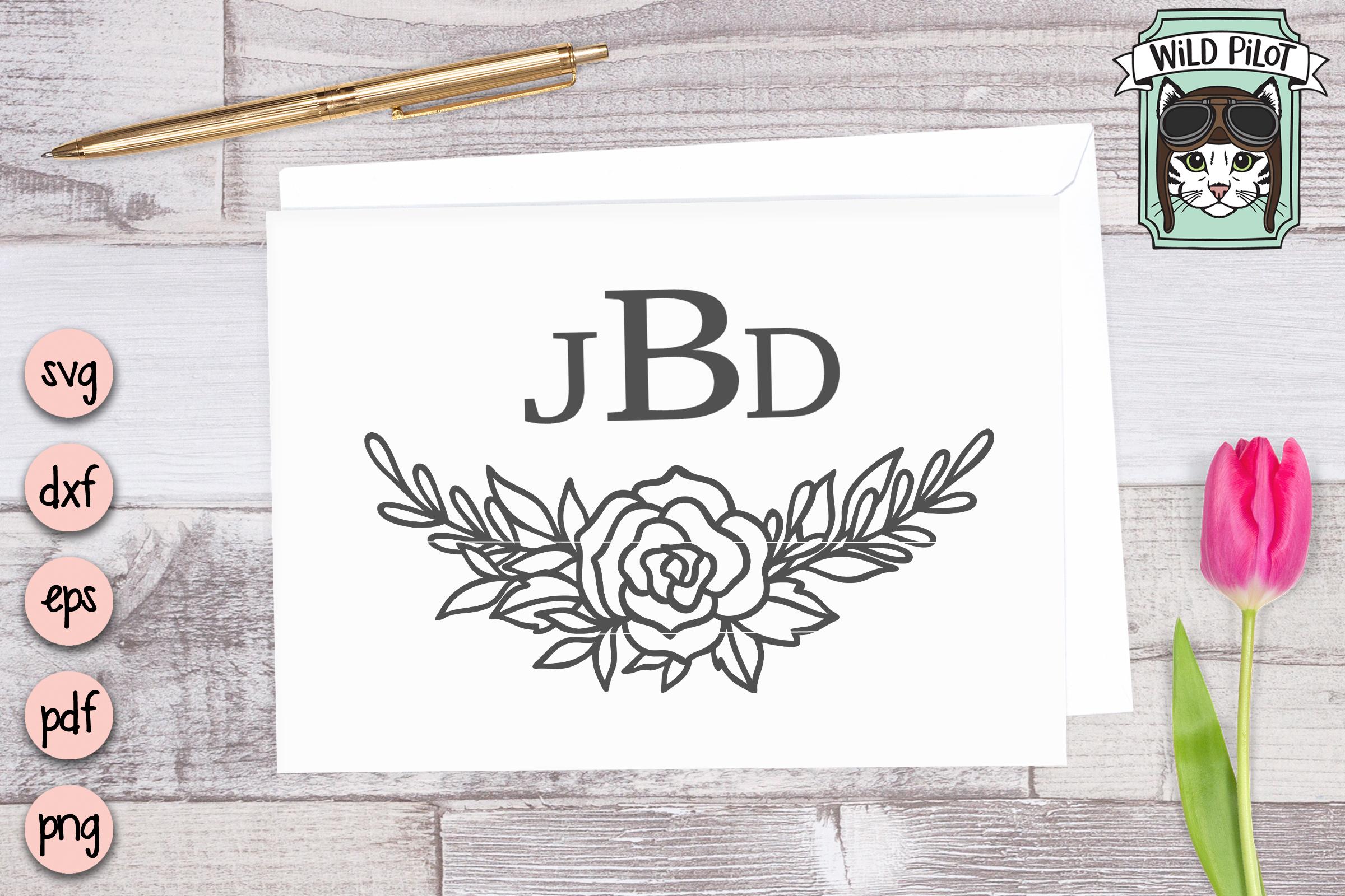 Flowers SVG file, Flower Border, Floral cut file, Roses example image 2