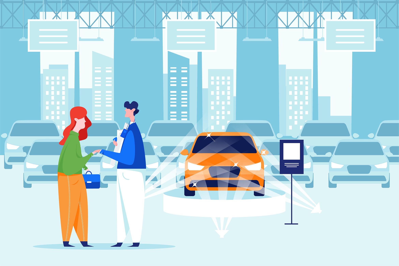 Car Dealership Vector Illustration Pack example image 10