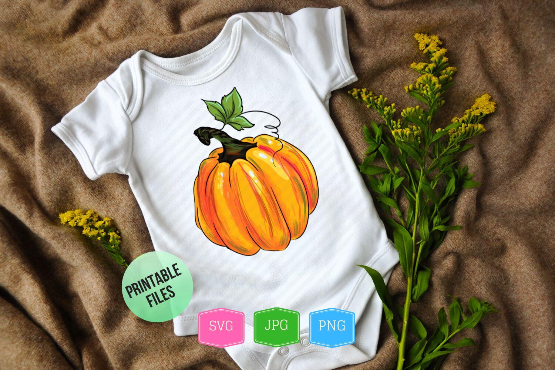Thankful pumpkin svg files for cricut PNG Halloween pumpkins example image 4