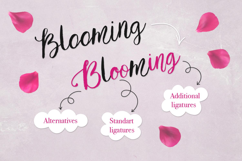 Tulip garden font example image 5