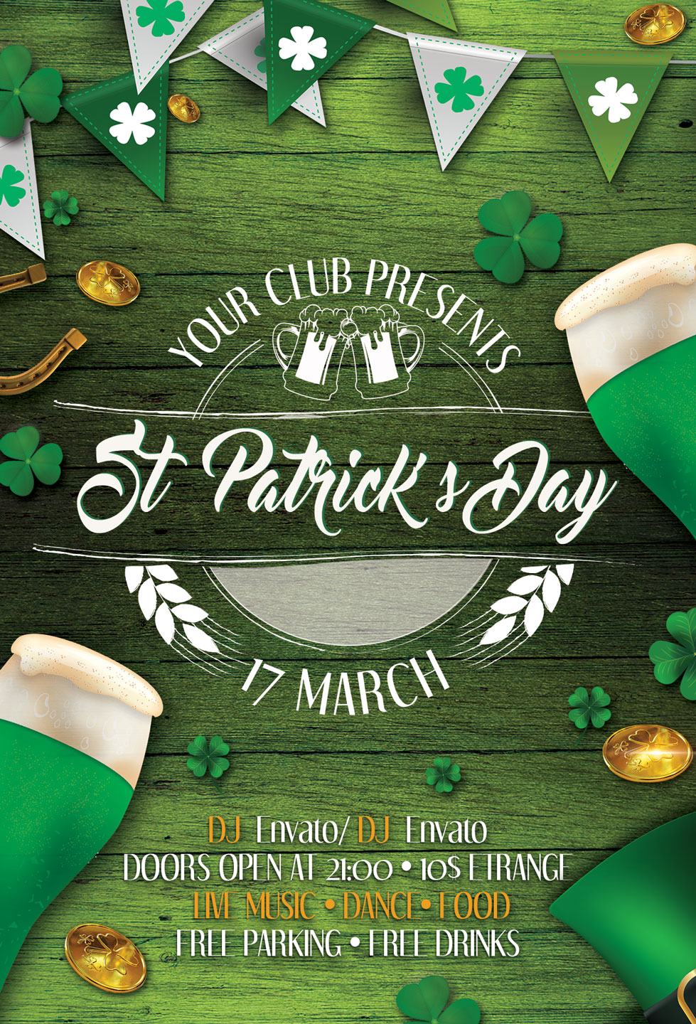 St. Patrick's Day Flyer And Poster example image 4