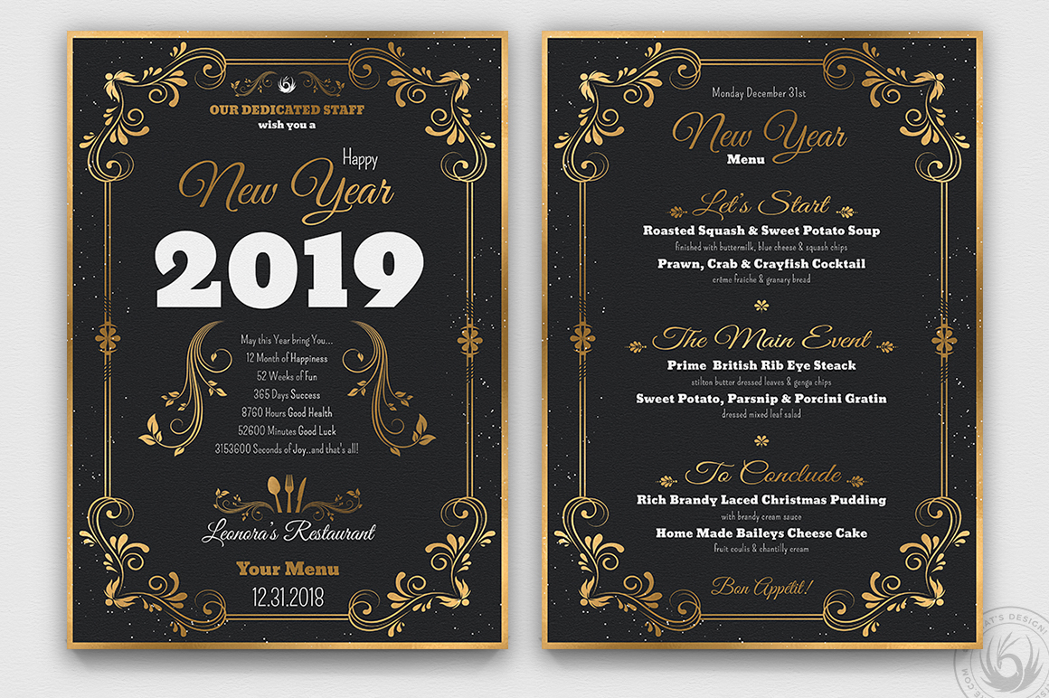 New Year Menu Template V1 example image 3