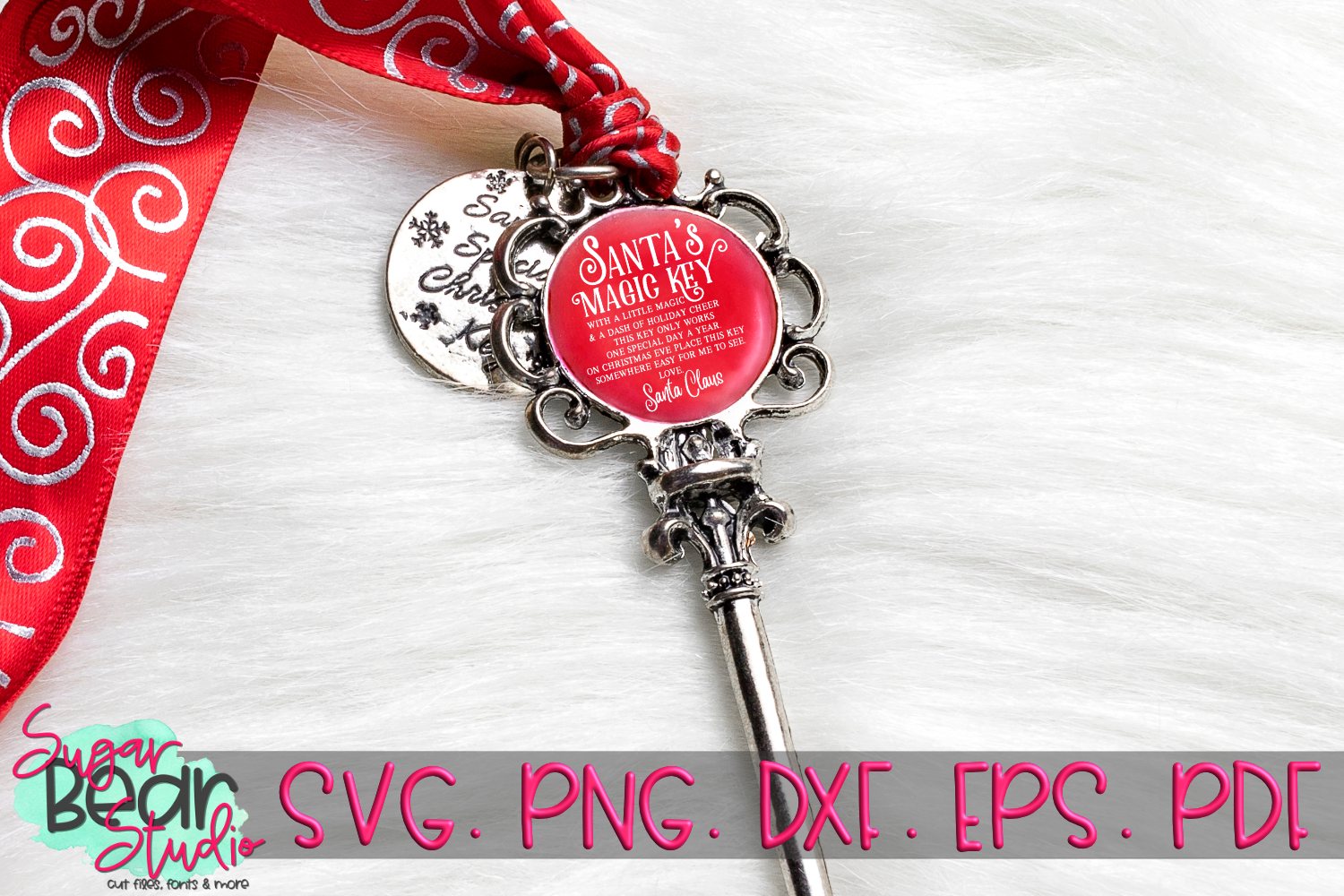Santa's Magic Key - A Christmas SVG example image 2