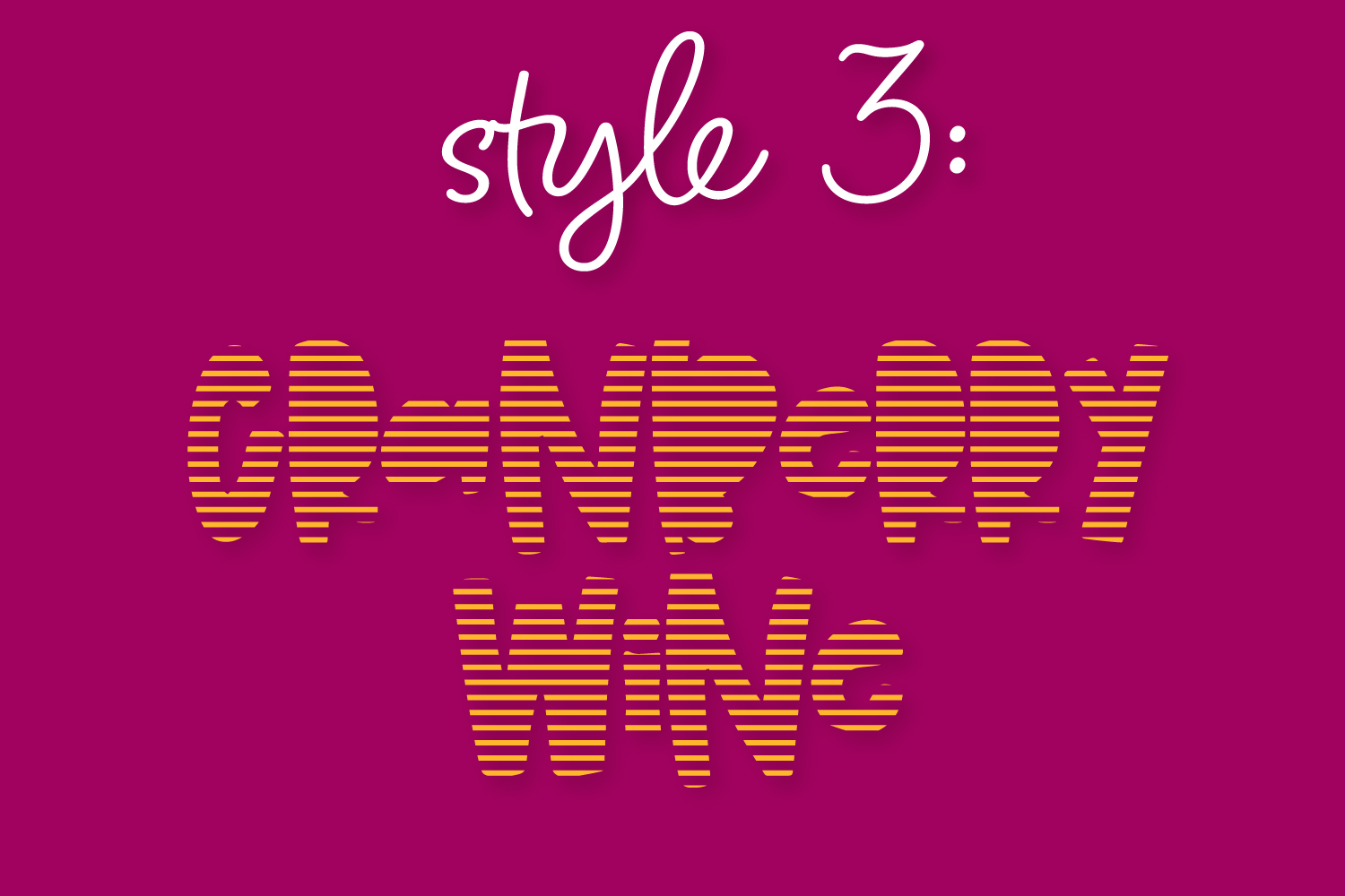 Cranberry Wine - A Striped Font Family of 6 New Fonts! example image 4