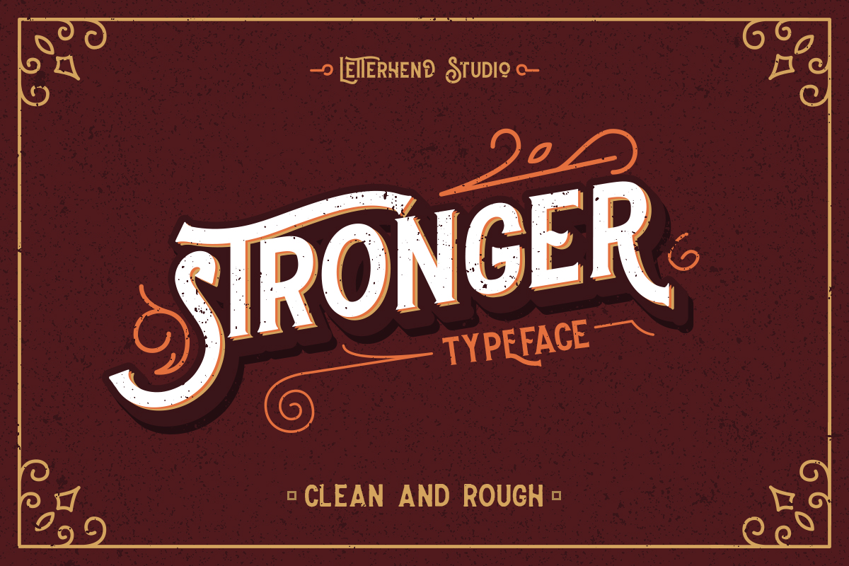 Stronger typeface example image 1