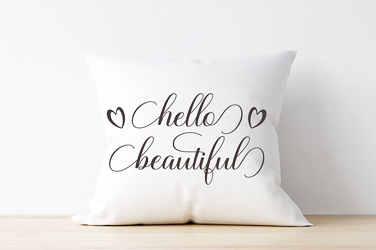Hello Beautiful - SVG PNG EPS DXF example image 2