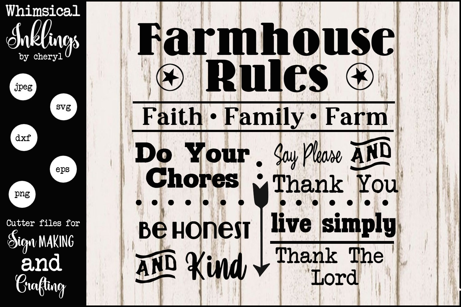 Farmhouse Rules 2 SVG example image 2