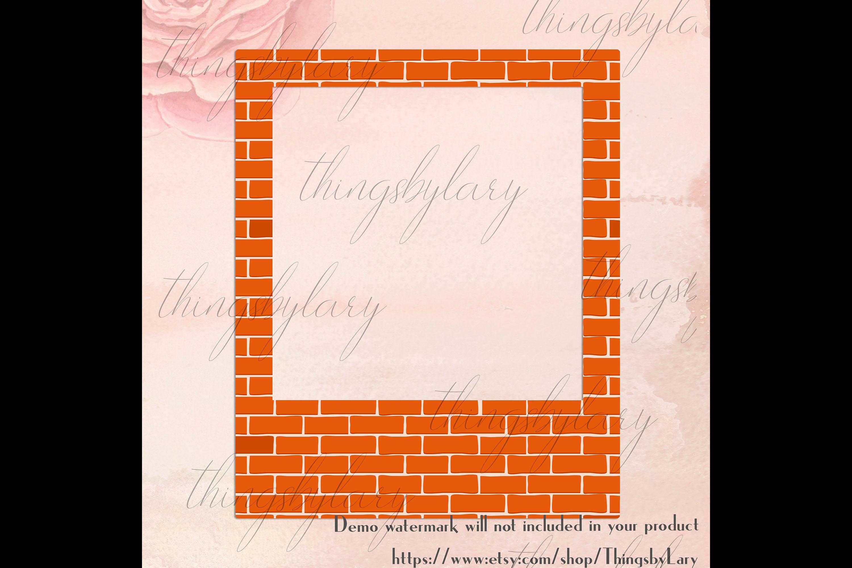 254 Brick Wall Polaroid Photo Booth Baby Shower Photo Frames example image 5