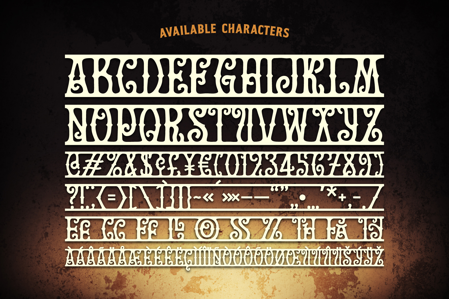 Golden Treasure font & template example image 4