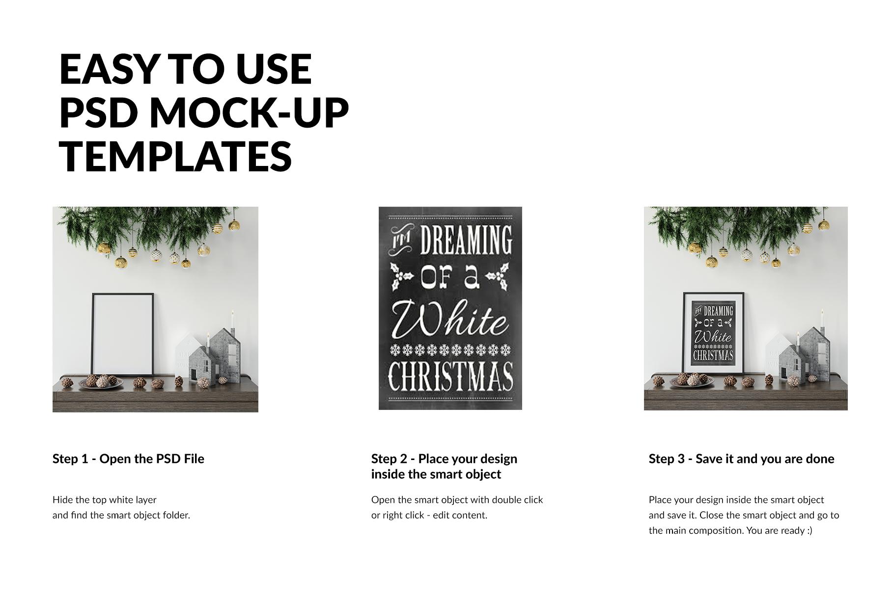 Christmas Frames & Wall Set example image 3