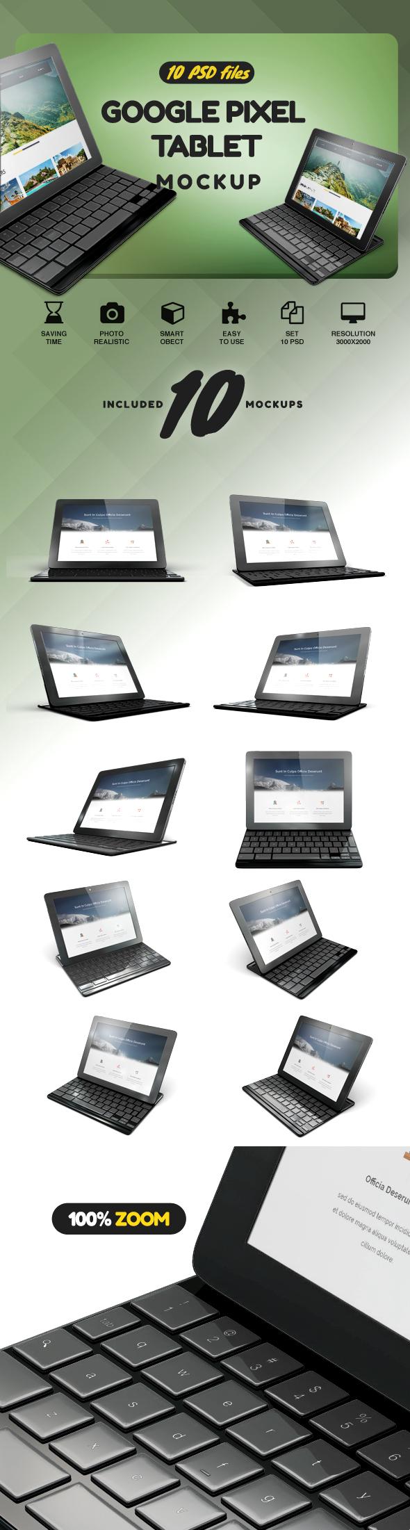 Google Pixel C Tablet Mockup example image 2