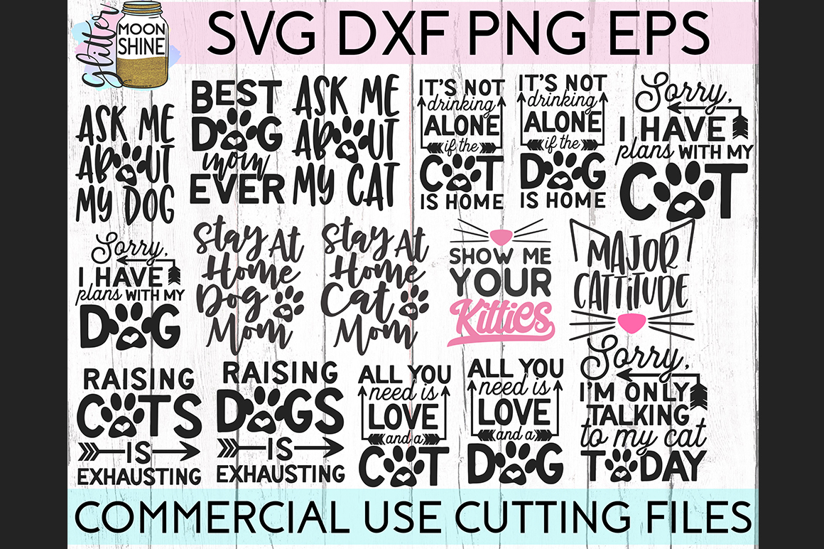 Giant Pet Mom Bundle of 68 SVG DXF PNG EPS Cutting Files example image 5