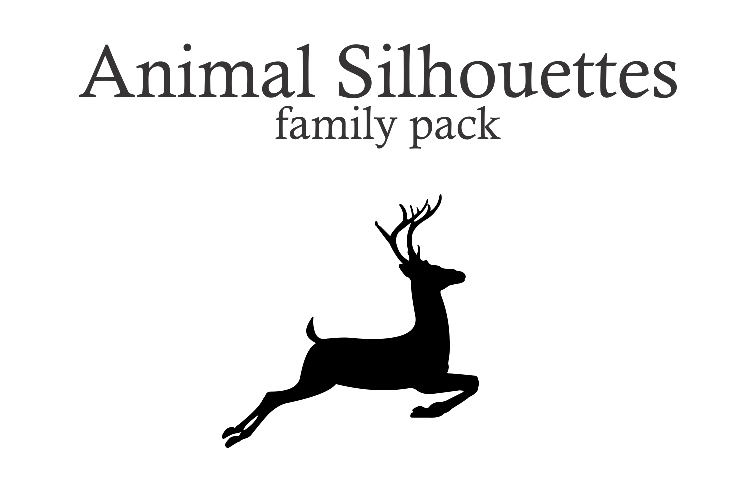 Animal Silhouettes (pack) example image 1