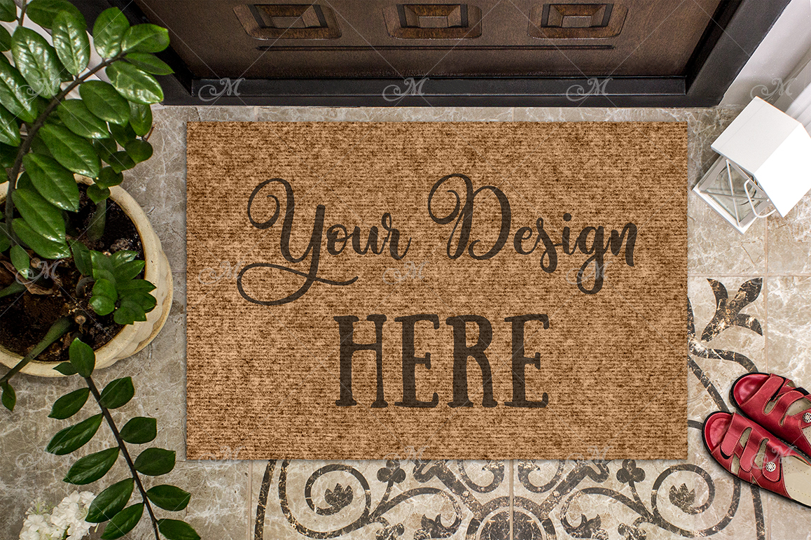 Doormat Mock-up. PSD+JPG example image 1