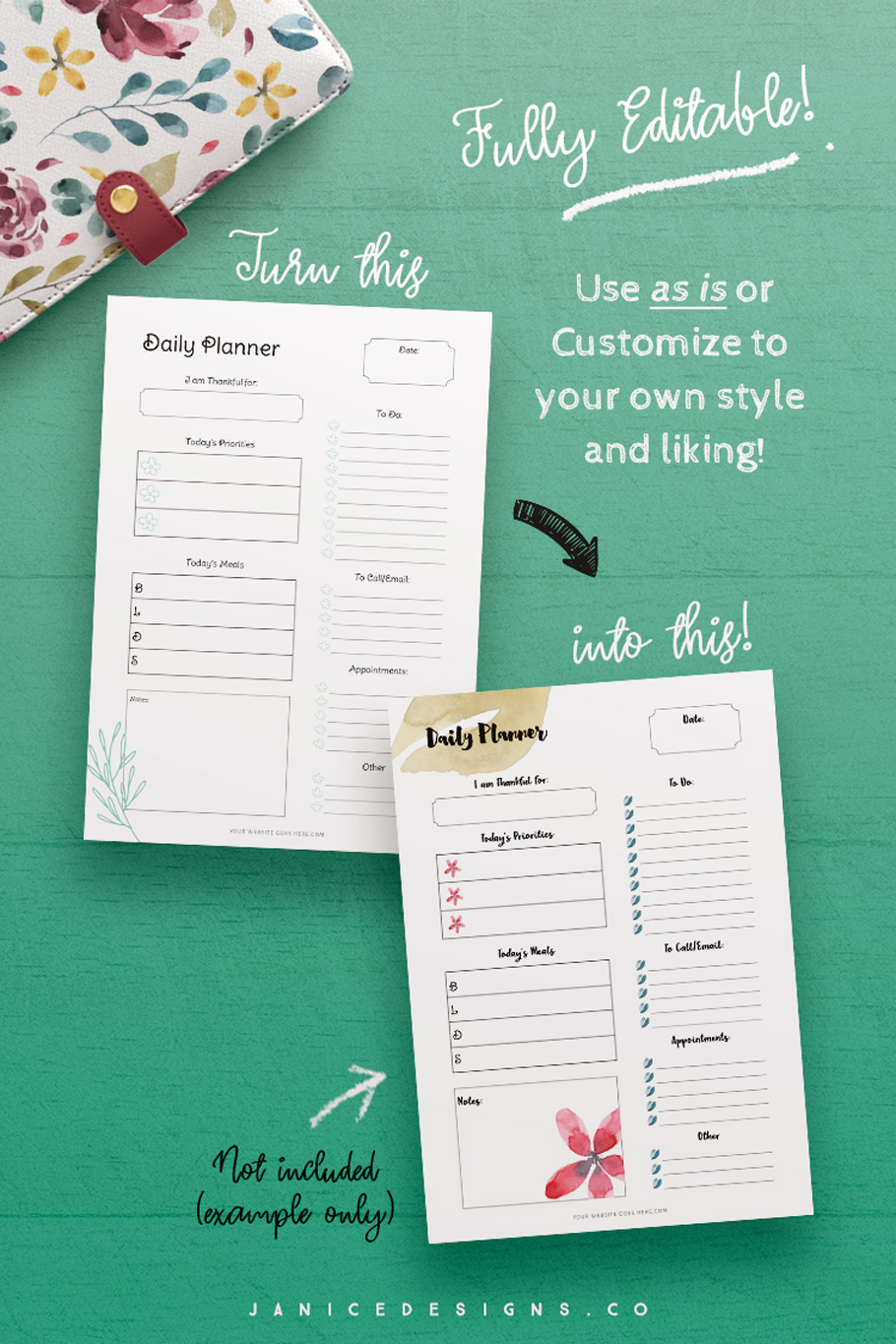 InDesign Planner Template for Commercial Use example image 5