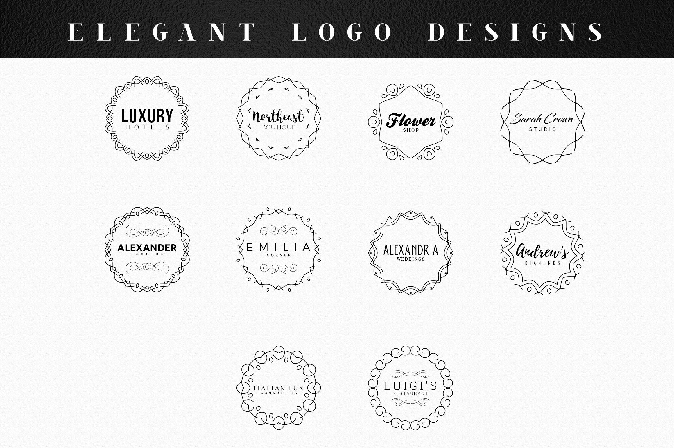 10 Elegant Logo Designs example image 2