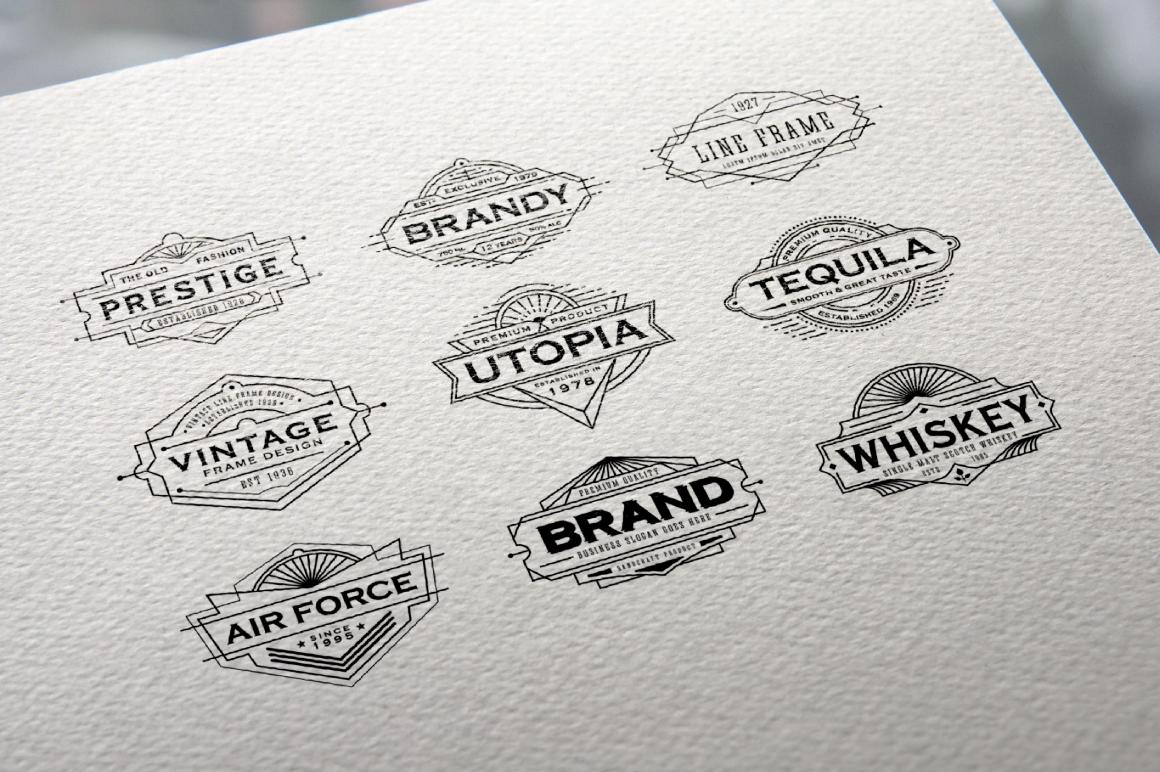 30 Line Art Badge & Frame Label example image 10