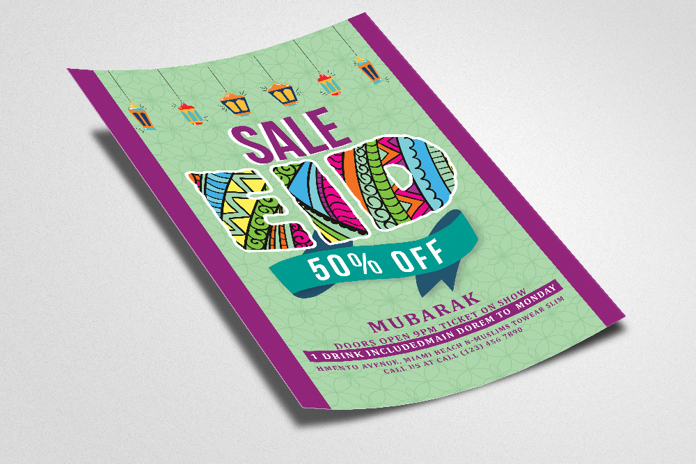 Eid Sale Offer Flyer example image 2