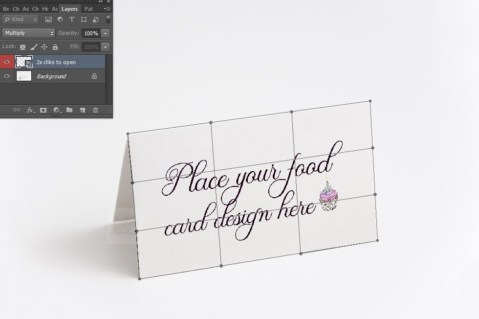 Blank food Card Mock up photo Table number guest tag mockup example image 3