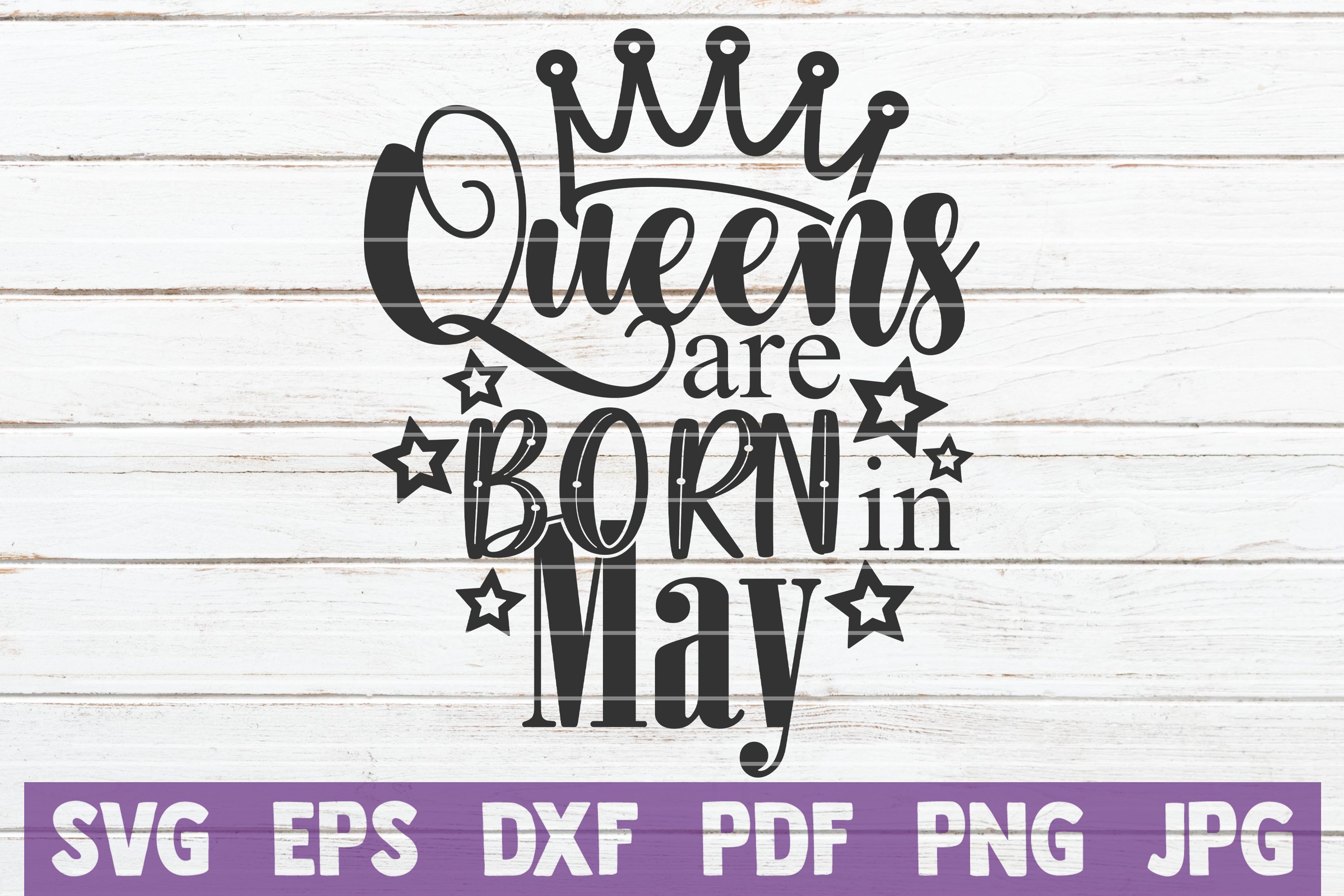 Queens Are Born In ... SVG Bundle | Birthday girl Cut Files example image 10