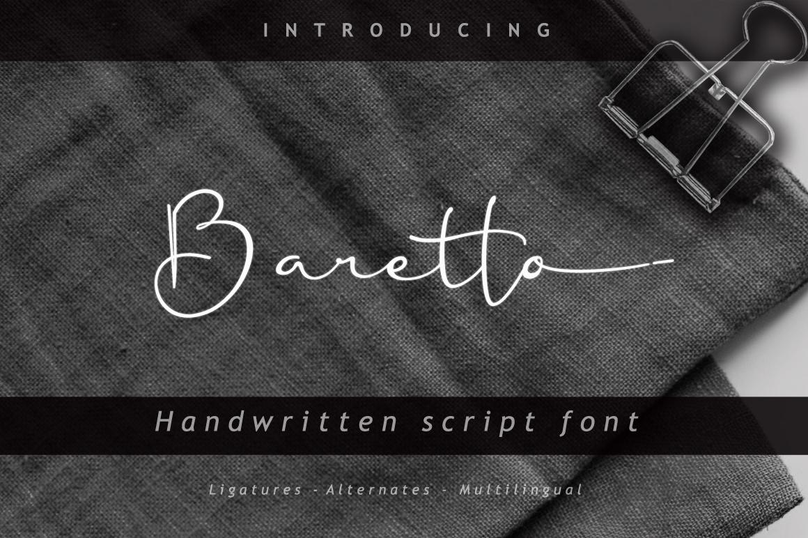 Baretto Font example image 1