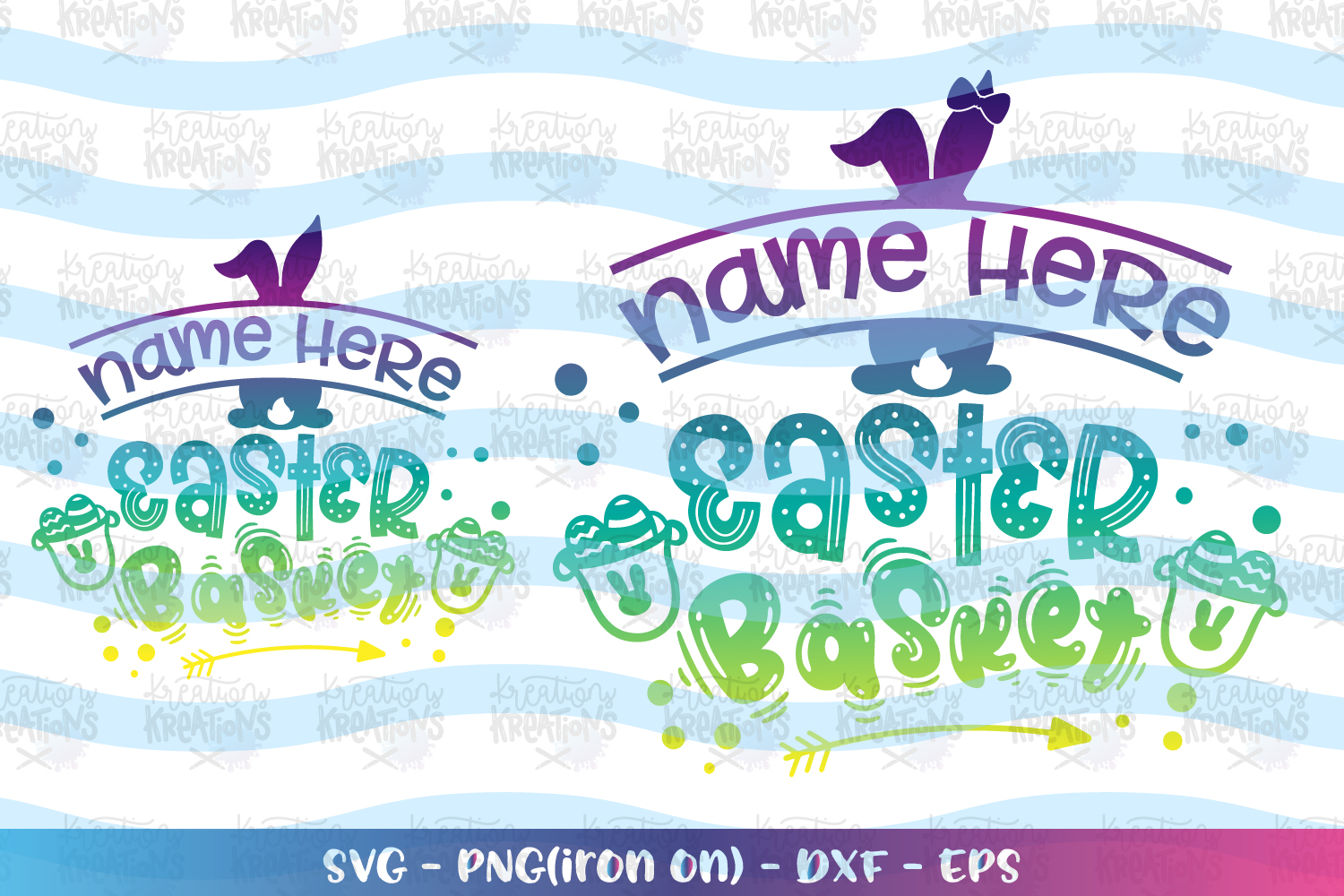 Easter svg Easter basket sweet candy custom name girl boy example image 1