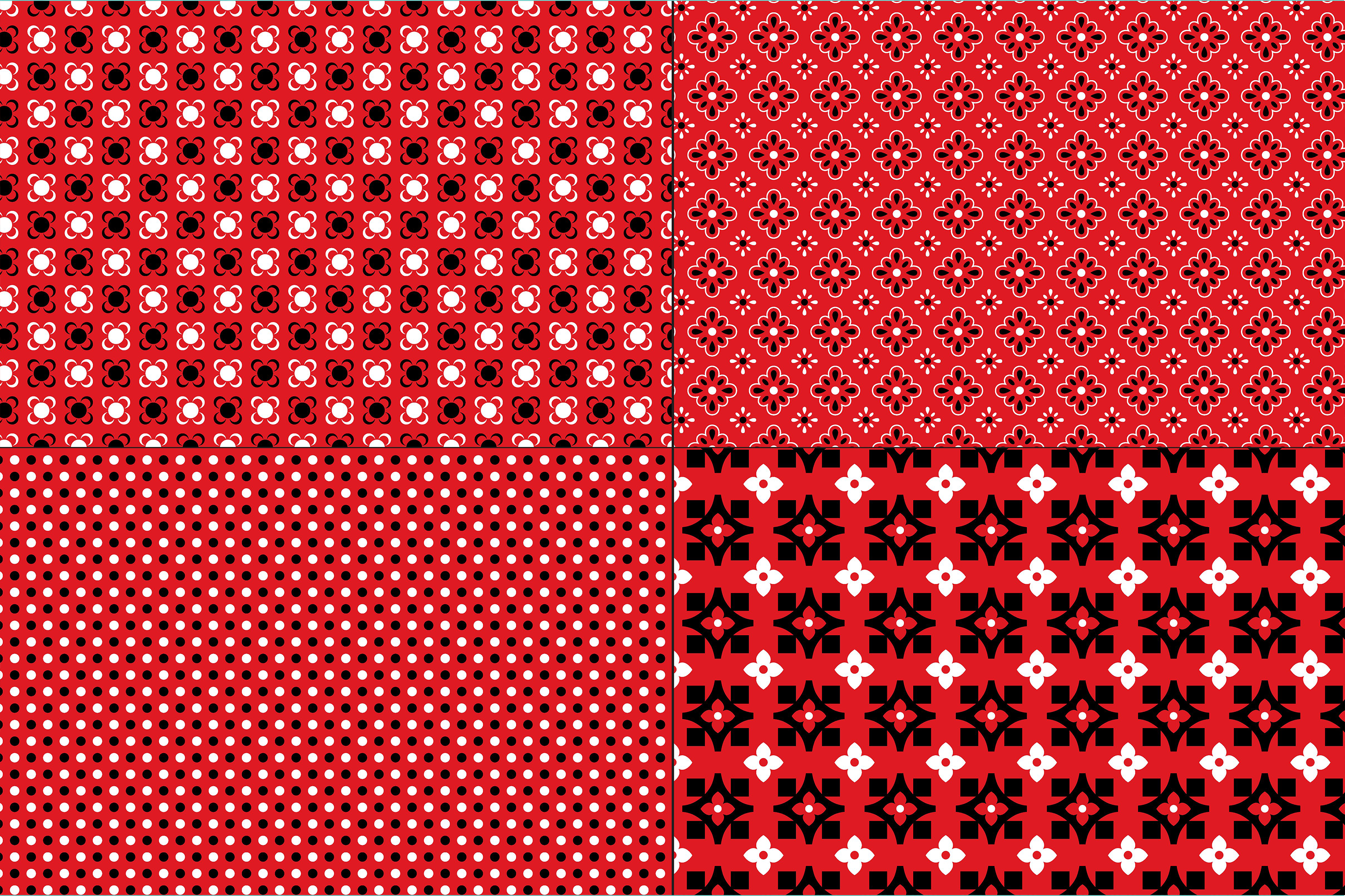Red Bandana Patterns example image 3