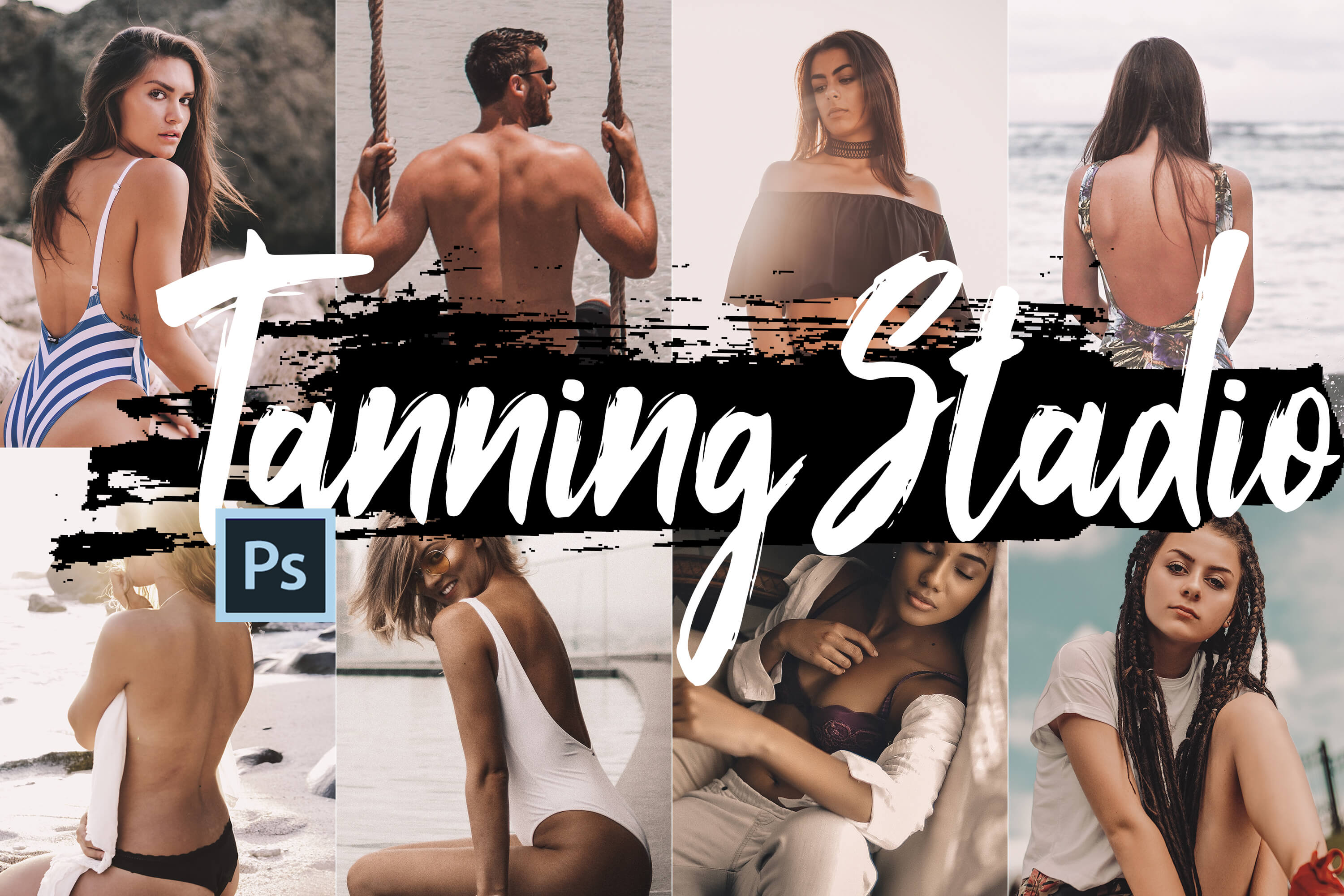 Neo Tanning Studio Theme Color Grading photoshop actions example image 1