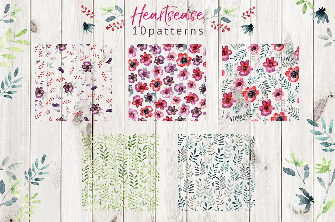 Heartsease pattern set example image 3