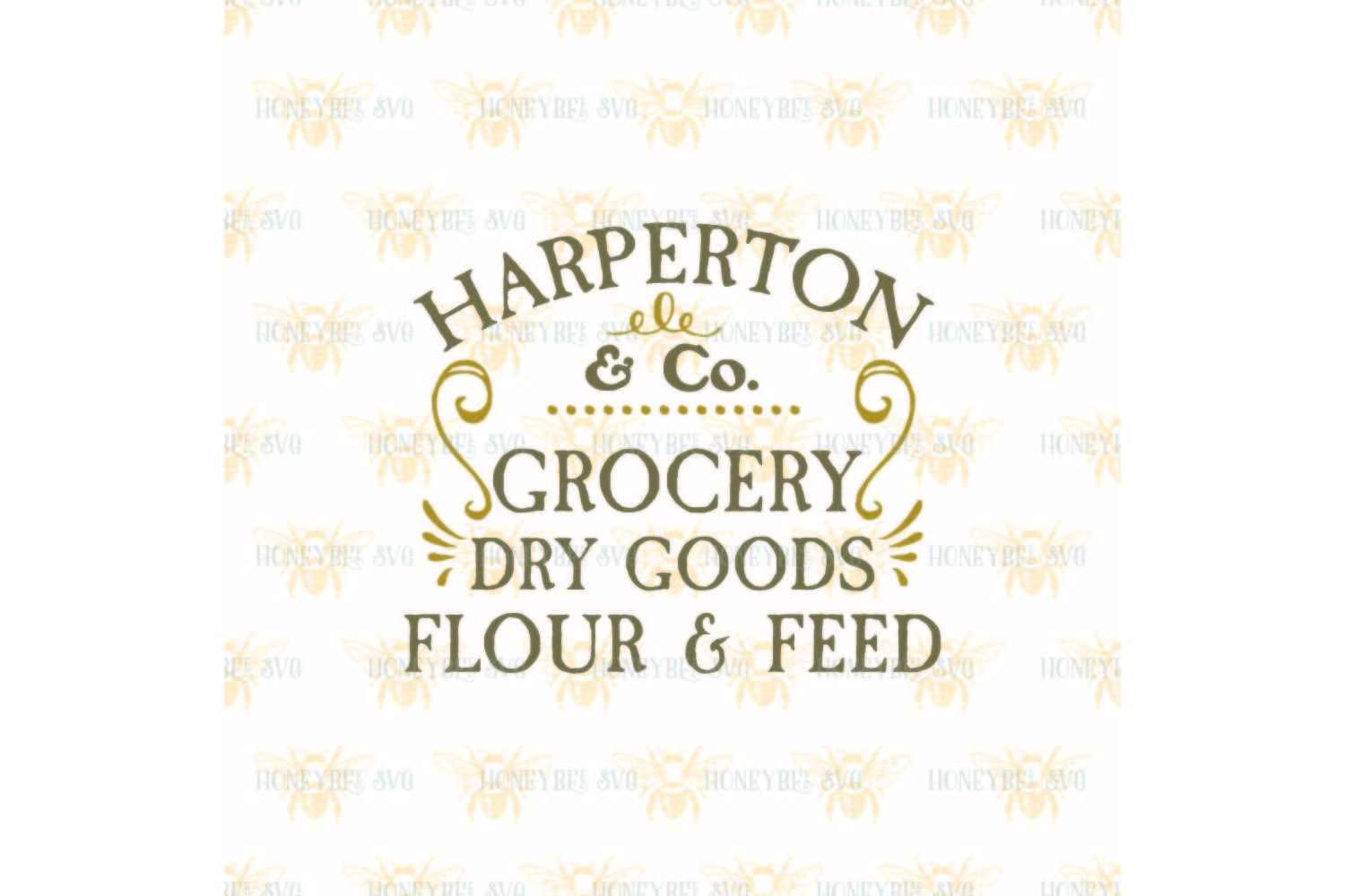 Harperton Grocery Dry Goods svg example image 2