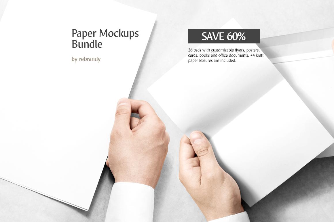 Paper Mockups Bundle example image 1