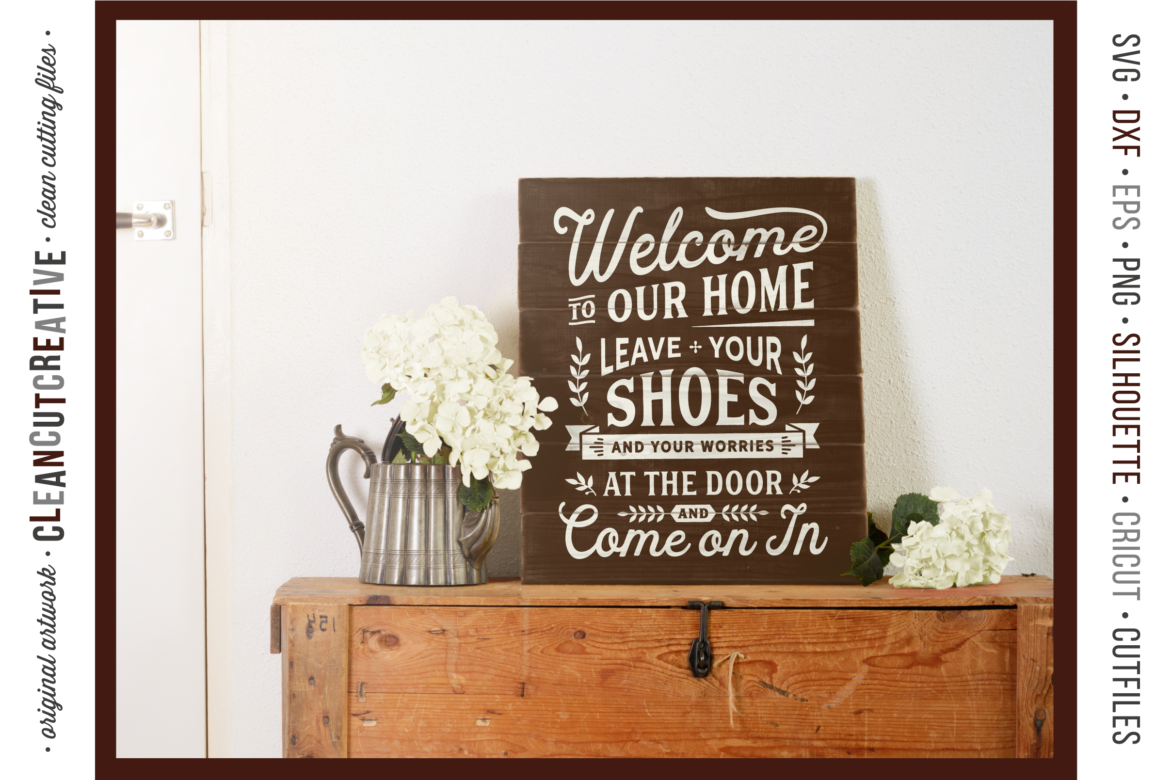 Leave Shoes and Worries at the Door - entry/mudroom sign svg example image 2